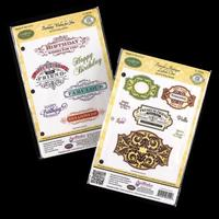 JustRite® 2 x Stamp Sets - Birthday Wishes & Antique Labels - 14 -621787