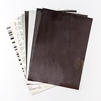 Creative Films Mixed Card & Adhesive Film Collection - Silver Flo-621890