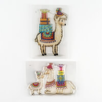 Wild Rose Studio 2 x A7 Stamps - Llama Mum & Baby and Llama Birth-623662