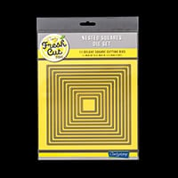 Clarity Fresh Cut Nested Squares Die Set - 11 Dies-624440