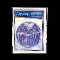 Claritystamp Carmel Round Fine Line Stamp Set-625743