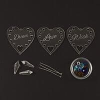 Impressions Crafts Acrylic Heart & Crystal Hanger Set-627432