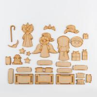Karacter Krafts 3 x Nativity Sweet Treat Boxes - Angel, Shepherd -627579