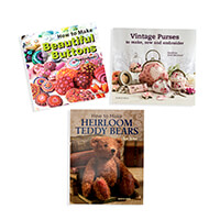 Search Press 3 x Tutorial Books - Beautiful Buttons, Heirloom Ted-627727