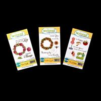 Taylored Expressions 3 x Stamp Sets  - Sunflower & Rose Wreath Se-627778