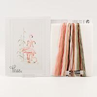 Thea Gouverneur Flamingos Cross Stitch Kit - 38 x 65cm-628409