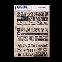 IndigoBlu A5 Red Rubber Stamp  - Happiness (Ian Campbell)-629329