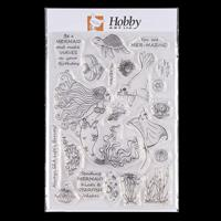 Hobby Art Mermaids A5 Clear Stamp Set designed by Lisa Pearce - 2-630550
