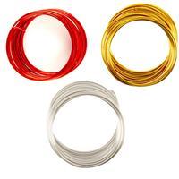Pick n Mix 3 x Coloured 5m Small Metallic Wire/Yarn - 15m Total-632534