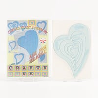 Crafty UK Set of 5 Nested Curved Hearts Template-635173