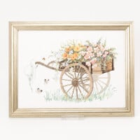 Permin Cart with Flowers Kit-637182