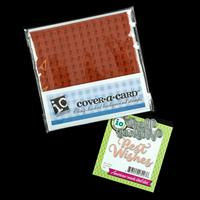 Impression Obsession Gingham Cover-a-Card Stamp and Best Wishes D-637740