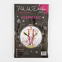 Pink Ink Designs A5 Clear Elephant Stamp with 8 Dimensional Eleme-638007