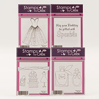 Stamps by Chloe Beaded Dress & Perfume Stamp Collection-638016