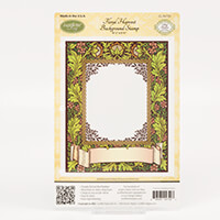 JustRite Floral Harvest Background Stamp-638033