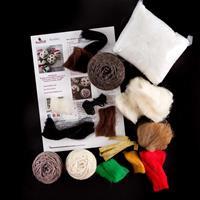 Knit2Felt Christmas Baubles Knitting & Felting Kit - Makes 4 Baub-638617