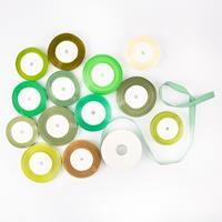 Set of 14 Assorted Ribbons - Green Collection - 330yds Total-639104