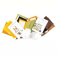 Polkadoodles Set of 2 Felt Sewing Kits - George Giraffe & Beary C-642498