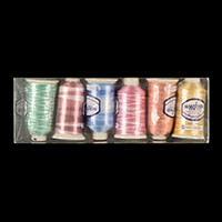 Marathon Threads Pack of 6 x 1000m Rayon Cops (Variegated)-643762