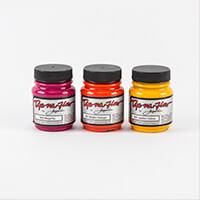 Jacquard Dye-Na-Flow - Warm Colours - 3 x 70ml Paint Pots - Golde-644176