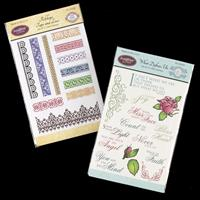 JustRite 2 x Stamp Sets - What Defines Us & Ribbons, Tape And Lac-645199