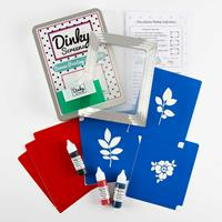 Dinky Screens Foliage & Flower Printing Craft Kit - A5 Screen, 3 -645697