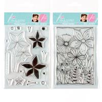 Julie Hickey Designs Flower Garden and Flower Fusion A6 Stamp Set-646914