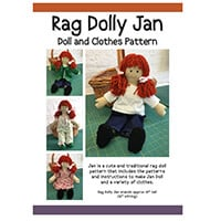 Quilter's Trading Post Rag Dolly Jan Pattern-648198