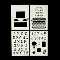 Bizarre-ology Set of 4 A5 Masks - Letters, Numbers, Typewriter an-648722