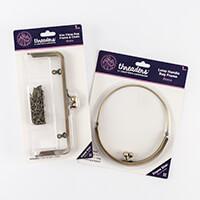 Threaders Kiss Clasp Bag Frame & Chain with Loop Handle Bag Frame-648808