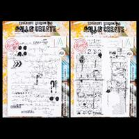 AALL & Create 2 x A4 Stamp Sets - Scribble it and String n' Scrip-649512