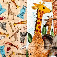Juberry Fabrics Wild Things Panel & 1/2 Metre Co-ordinating Fabri-649817
