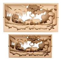 Samantha K Deer Set - 1 x Large 40cm & 1 x Small 20cm Deer Forest-650352
