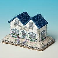 Nutmeg Minature Building 'Seaside Village' Cross Stitch Kit - The-651267