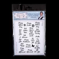Sentimentally Yours A5 Clear Stamp Set - Special Occasions Collec-652349