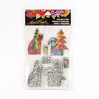 Stampendous Laurel Burch Christmas Friends Stamp and Die Set - 4 -653845