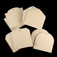 That's Crafty! 8 x Greyboard Short Tags Pack-656285