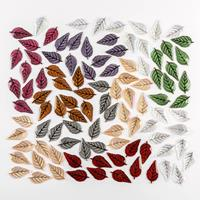 Craft Buddy Set of 100 Luxury Acrylic Leaves in Mixed Colours-656791