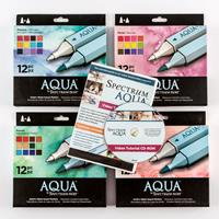Spectrum Aqua Complete Collection of 48 Pens with Resource CD ROM-661933