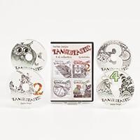 Peerless Designs Set of 4 Tangletastic CD - ROMS-664557