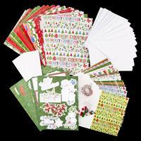 Christmas Card Kit - Envelopes, Card Blanks, Embellishments & Mor-666591