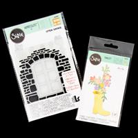 Sizzix® Thinlits™ Set of 17 Dies - Rain Boot Planter & 3D Embossi-667090