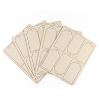 That's Crafty! 30 x Assorted Shape Greyboard Tags-667368