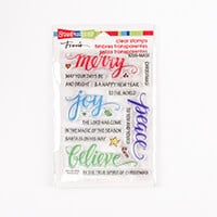 Stampendous Christmas Words Clear Stamp Set - 21 Stamps-668056