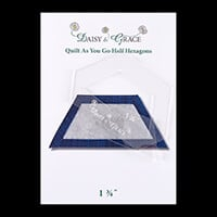 "Daisy & Grace 'Quilt as you go' Half Hexagon Template - 1 3/4""-669455"