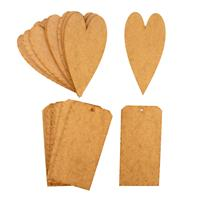That's Crafty! Surfaces Large MDF Hearts & Tags Pack - 10 x Heart-670572
