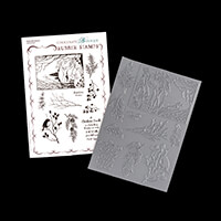 Chocolate Baroque Robin the Spruce A5 Stamp Sheet -10 Stamps-670972