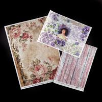 Imagination Crafts A4 and A3 Rice Papers - Backgrounds & Florals-672064