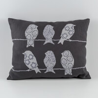 Permin Birdies Cross Stitch Cushion Kit - 50cm x 40cm-673137