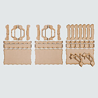 Daisy's MDF Pack of 3 Trays-675559